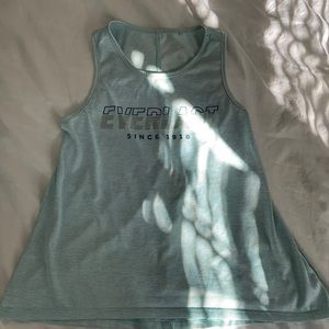 Blue exercise top